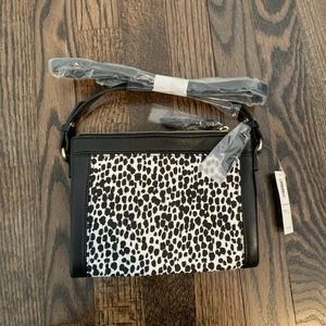 White/Black Leopard Crossbody NWT